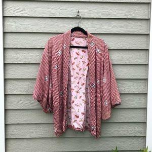 Vintage Cropped Kimono